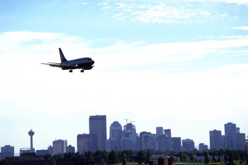 Airplane over Calgary