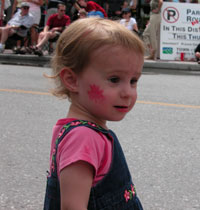 Child on Canada Day