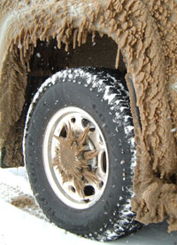 icy truck