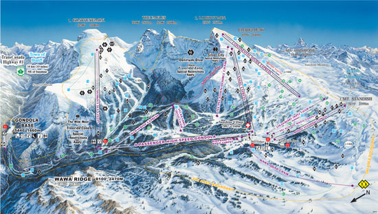 Sunshine Village Trail Map