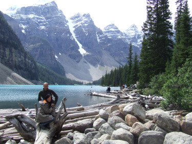Enjoying Moraine Lake in the Valley of the Ten Peaks