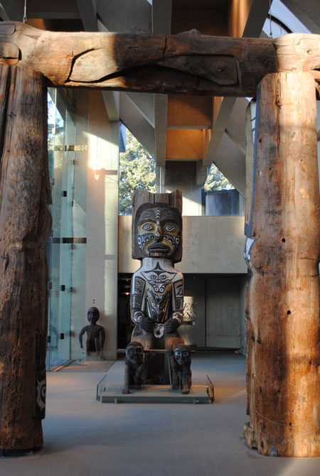 Interior House Post, House Post, MOA, Museum of Anthropology, University of British Columbia